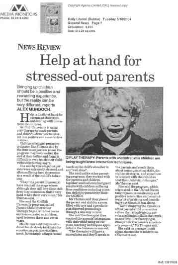 Help at Hand for Stressed Out Parents